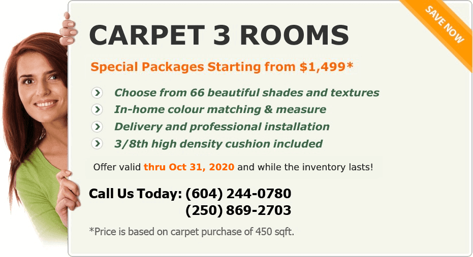 home carpet special by Cottage Carpets Vancouver